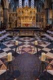 ELY, CAMBRIDGESHIRE/UK - 24 DE NOVIEMBRE: Opinión interior Ely Cath Fotos de archivo libres de regalías