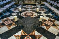 ELY, CAMBRIDGESHIRE/UK - LISTOPAD 22: Świątynia Etheldreda Sain Zdjęcia Stock