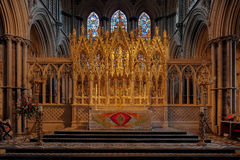ELY, CAMBRIDGESHIRE/UK - 24 NOVEMBER: Binnenlandse mening van Ely Cath Royalty-vrije Stock Fotografie