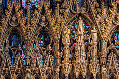 ELY, CAMBRIDGESHIRE/UK - 24 NOVEMBER: Ingewikkeld detail van Royalty-vrije Stock Foto's