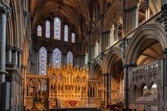 ELY CAMBRIDGESHIRE/UK - NOVEMBER 24: Inre sikt av Ely Cath Arkivbilder