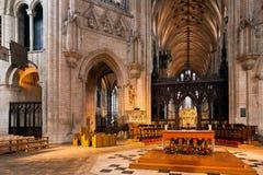 ELY CAMBRIDGESHIRE/UK - NOVEMBER 24: Inre sikt av Ely Cath Royaltyfri Foto