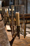 ELY, CAMBRIDGESHIRE/UK - NOVEMBER 24 : View of candles in the Ca Royalty Free Stock Photography