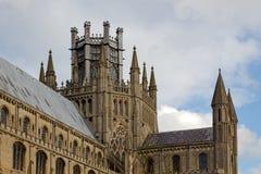 ELY CAMBRIDGESHIRE/UK - NOVEMBER 22: Yttre sikt av Ely Cath Royaltyfria Bilder