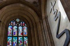 ELY, CAMBRIDGESHIRE/UK - 22 NOVEMBRE: Vista interna Ely Cathedr immagini stock libere da diritti