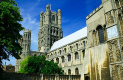 Ely Cathedral 3. Ely Cathedral, Cambridgeshire, England. The seat of Anglican Bishop of Ely. The building was started in 1083 Stock Images