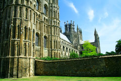 Ely Cathedral 5. Ely Cathedral, Cambridgeshire, England. The seat of Anglican Bishop of Ely. The building was started in 1083 Stock Image