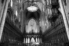 Ely Cathedral Aspect en Plafond Stock Afbeeldingen