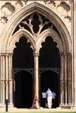 Ely Cathedral, Cambridgeshire, UK. Main entrance to Ely Cathedral, UK Royalty Free Stock Photo