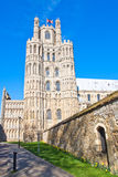 Ely cathedral. Early spring, bank holidays Stock Photos