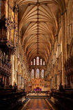 Ely Cathedral interior. Wide angle view of Ely Cathedral interior Royalty Free Stock Photos