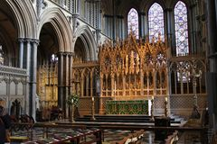 Ely Cathedral interior royalty free stock photography