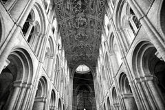 Ely Cathedral. Beautiful Ceiling inside Ely Cathedral royalty free stock images