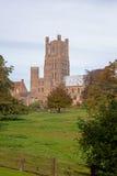 Ely Cathedral und Dekans Meadow, Cambridgeshire Lizenzfreies Stockbild
