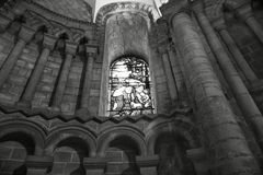 Ely Cathedral. Beautiful Stained Glass Window inside Ely Cathedral stock photography
