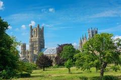 Ely domkyrka Cambridgeshire England Arkivfoto