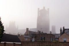 Ely e la cattedrale, Cambridgeshire Immagini Stock Libere da Diritti
