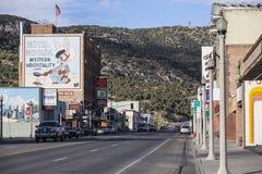 Ely Nevada Historic Business District royaltyfri bild