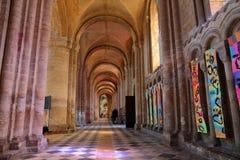 ELY, R-U - 26 MAI 2017 : L'intérieur de la cathédrale avec la partie du sud de la nef Image stock