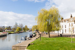 Ely Riverside Stock Images
