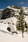 Ely sur le fond d'un excellent paysage de montagne Images libres de droits