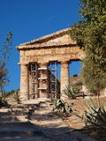 Elymian temple in Doric style, Segesta, Sicily, Italy Royalty Free Stock Photography