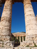 Elymian temple, Segesta, Sicily, Italy Royalty Free Stock Images