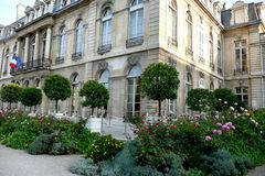 ELYSEE PARIS : Garden & Palace. Palace of the President of the French Republic stock images