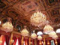 Elysee salle des fetes. Official reception room Stock Images