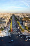 The Elysian Fields. Champs-Elesees in Paris stock image