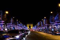 Elysian fields. Famous Elysian Fields. Paris, december royalty free stock photos