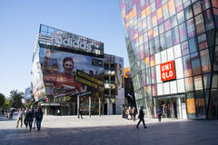 Em Ásia, o Pequim, China, abre o distrito da compra, Taikoo Li Sanlitun Fotos de Stock