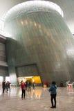 Em Ásia, Pequim, China, arquitetura moderna, o museu principal, o salão de exposição interno Imagens de Stock Royalty Free