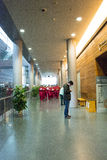 Em Ásia, Pequim, China, arquitetura moderna, o museu principal, o salão de exposição interno Fotografia de Stock