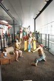 Em Ásia, Pequim, China, arquitetura moderna, o museu principal, o salão de exposição interno Imagens de Stock