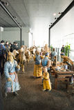 Em Ásia, Pequim, China, arquitetura moderna, o museu principal, o salão de exposição interno Fotos de Stock