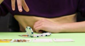 em πόκερ Τέξας λαβής Στοκ Εικόνα
