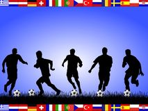 em команды 2008 футбола Стоковая Фотография