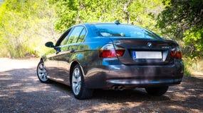 Em agosto de 2017: Grafite da efervescência da série E90 330i de BMW 3 Fotografia de Stock