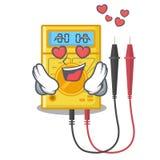 Em brinquedos do multímetro digital do amor na forma dos desenhos animados ilustração stock
