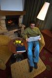 Em casa pela chaminé Imagem de Stock Royalty Free