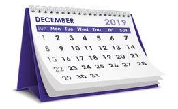 Em dezembro de 2019 calendário imagens de stock royalty free