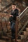 Em escadas Fotos de Stock Royalty Free