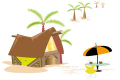 Em férias Ilustração do Vetor