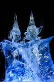 Em fevereiro de 2013 - Harbin, China - estátuas bonitas do gelo no festival de lanterna do gelo Imagens de Stock