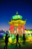 Em fevereiro de 2013 - Harbin, China - gelo internacional e festival da neve Fotos de Stock