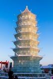 Em fevereiro de 2013 - Harbin, China - gelo internacional e festival da neve Foto de Stock