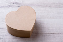 Em forma de caixa como o coração Fotos de Stock