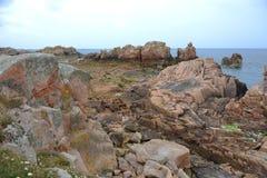 Em França do noroeste Ilha de Brehat Foto de Stock
