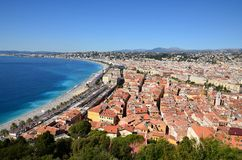 France, rivieera francês, cidade agradável Fotografia de Stock